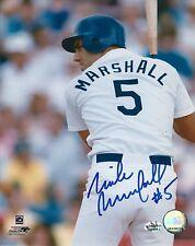 Signed  8x10 Mike Marshall Los Angles Dodgers photo - COA