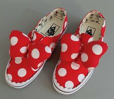 VANS Disney Minnie Mouse Bow Authentic Gore Polka Dot Sneakers Women's 7.5 NEW!