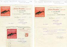 Dépt 44 - St Nazaire 24 Rue des Caboteurs - Belle Entête Lettre + Enveloppe 1934