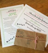 """Personalised Vintage Letter From Santa Father Christmas, """"Nice"""" List Certificate"""