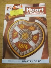 22/10/1988 Heart Of Midlothian v Celtic [1 Unknown Autograph On Front] .  Thanks
