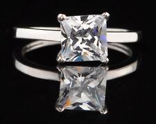 2,50Kt 585er Weiß gold atemberauben Prinzessin Form Solitär Verlobung Ring
