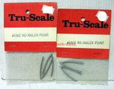 Tru-Scale~#1401~Re-Railer Point~Set X 2~OOP,MIB,NOS