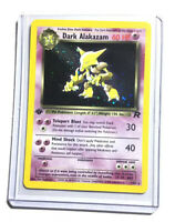 DARK ALAKAZAM - 1/82 - 1st Edition Team Rocket - Holo - Pokemon - EXC / NM