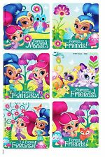 Shimmer and Shine Stickers x 6 -  Birthday Party Favours - Forest Magic Stickers