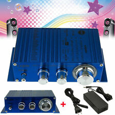 40W 12V Mini HiFi Amplifier Booster Audio MP3 Stereo for Car Motorcycle + Power