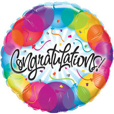 "Congratulations Celebration Party Decoration Assorted Designs 18"" Foil Balloon"