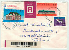 Canada MI 1133 MIF LUPO-letter with registered mail to Finland