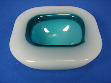 SMALL alabastro cased Murano Glass Bowl # bella vetro guscio ITALY 454 grammi