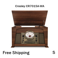 New, Crosley CR7015A-WA Medley 3-Speed Turntable with Bluetooth, Radio, CD