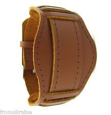 20mm LIGHT BROWN WATCH BAND ARMY MILITARY Vintage Soviet Russian Genuine Leather