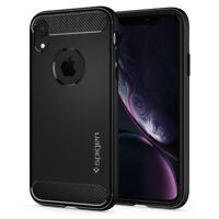 iPhone XR | Spigen® [Rugged Armor] Hybrid Slim Protective Shockproof Case Cover