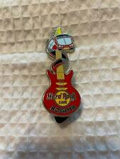 Hard Rock Cafe Pin Bogota - Red Guitar w Bus Driving Around Guitar Neck