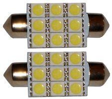 2x ampoule C5W 12V 9LED SMD blanc effet xénon 39mm navette éclairage intérieur