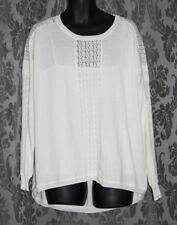 Womens size XL (18) cream jumper with lace detail by ROCKMANS