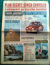 L'AUTO-JOURNAL n°317 du 02/1963; Simca-Chrysler/ Monte Carlo; Carlsson/ BMW 1500