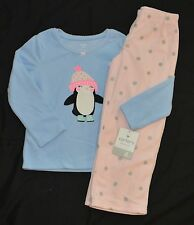 8a6344dcbf New ListingNWT Carter s PJ s Pajamas Girls Penguin 2 Piece Blue Pink Polka  Dot Size 4