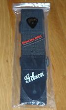 Gibson Les Paul Strap Nylon White Logo Genuine Guitar Parts SG HP Custom T ES V