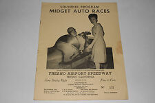 Midget Auto Races Program, Fresno Airport Speedway, Aug 25 1946, Original