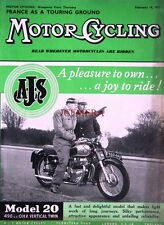 Feb 14 1957 A.J.S. 'Model 20' Motor Cycle ADVERT - Magazine Cover Print