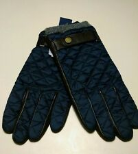 Polo Ralph Lauren Quilted Nylon Thinsulate Field Gloves Navy Blue Size XL
