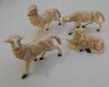 euromarchi Pecore per Presepe Set da 24 Pezzi in Resina 4x3 cm