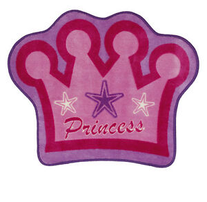 Girls Pink Crown Princess Ballet Dance Bedroom Mat Rug Christmas Gift Katz RU-01