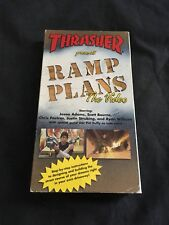 Thrasher Skateboarding Ramp Plans Vhs Skate Video Insructional Ramp Building