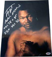 "Larry Holmes Signed ""Easton Assassin WBC 78-85 IBF 83-85"" 11x14 Photo PSA LST647"