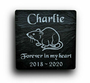 Personalised Engraved Slate Stone Pet Memorial Grave Marker Headstone Plaque Rat