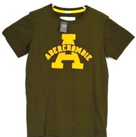 A&Fitch Abercrombie & Fitch Shirt Medium Mens Casual Designer Top Green Tee A&F