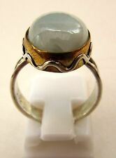 Anillo de plata esterlina 925 Con Larimar Natural Talla L 1/2 US 6 (rg2280)