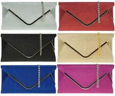 Clasp Sequined Handbags with Inner Dividers Clutch Bags