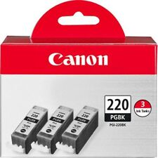 Geniune Canon PGI-220 Black Ink Tank 3-Pack - Canon Authorized Dealer!