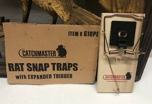 CATCHMASTER 610PE Rat Snap Trap w/ Expanded Trigger