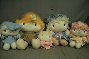 lot vintage Applause Knickerbocker Sunbonnet Babies Cuties doll baby family boy