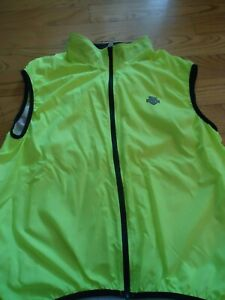 Descente Cycling Reflective Yellow/Green Vest Men  XL