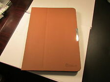 GearIt Samsung Galaxy Tab 4 10.1 TABLET Folio Rotate HARD Cover BROWN Lot of 10