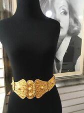 """Vintage Signed JUDITH LEIBER Goldtone 3D Link Belt Size XS 27"""" Runway Statement"""