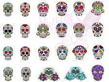 24 Nail Art Waterslide Decals Sugar Skulls *Salon Quality
