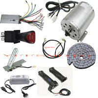 1800W 48V DC Electric Brushless Motor Kits Scooter Ebike Gokart ATV Project DIY