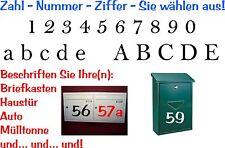Aufkleber Sticker Tattoo- Zahl / Ziffer in 10cm Höhe glänzende Folie-Artikel 511