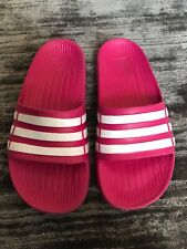 Adidas Girls Pink Sliders Size 2
