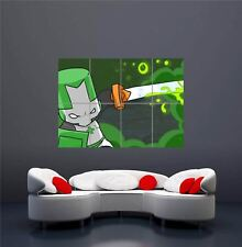 XBOX ONE PS3 PS4 PC GAME CASTLE CRASHERS GREEN GIANT ART PRINT POSTER OZ1164