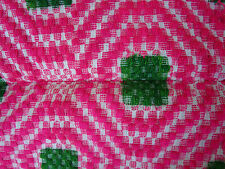 "1930's Antique Vtg. PINK Hand Woven Sheep Wool Romanian KILIM Blanket 56x78"""