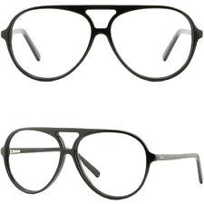 Oversize Huge Acetate Frame Eyeglasses Wide RX Glasses Spring Hinges Shiny Black