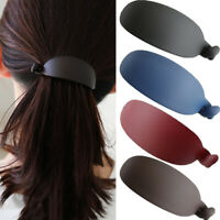 Frosted Ponytail Clips Pure Color Banana Clips Grabs Strong Grip Hair Clips