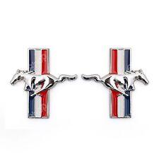2pc Auto Chrome Running Horse für Mustang Door Fender Emblem Abzeichen Aufkleber