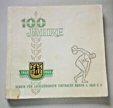 Festschrift Chronik VFL Eintracht Hagen 100 Jahre 1963 Handball Sport Programm