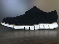 Cole Haan Men's Zerogrand Black Suede Wingtip Oxford Shoes size 8 $270